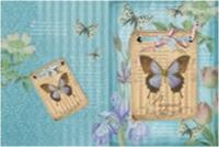 Обложка для паспорта Бабочки на синем 20014
